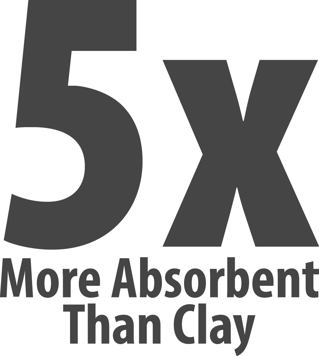 4 Time More Absorbent Than Clay Image